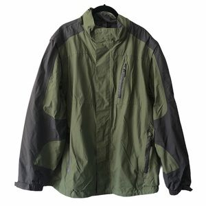 WindRiver Mens Green Shell Winter Jacket Large